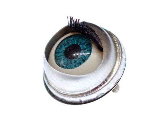 Eye Brooch Pin Miniblings Anatomy Human Medical Organ Horror | Etsy