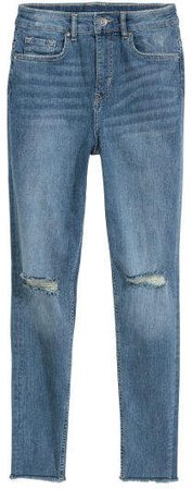 Slim High Trashed Jeans - Blue