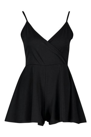 Wrap Front Cami Playsuit | Boohoo