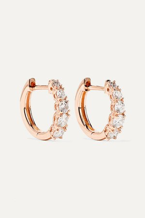 Anita Ko | Huggies 18-karat rose gold diamond earrings | NET-A-PORTER.COM