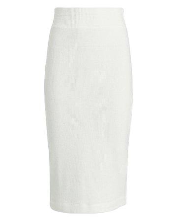 Enza Costa | Ribbed Knit Midi Skirt | INTERMIX®
