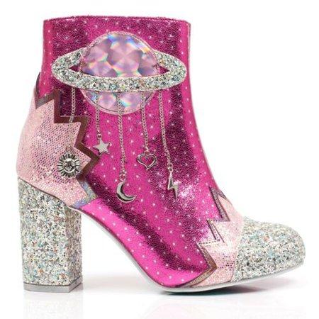 Irregular Choice Intergalactic Encrusted Star Pink Ankle Boot UK5-8.5 EU38-43 | eBay