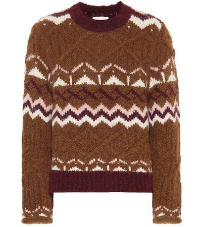 Fair Isle alpaca-blend sweater