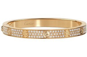 Cartier Gold Diamond Love Bracelet