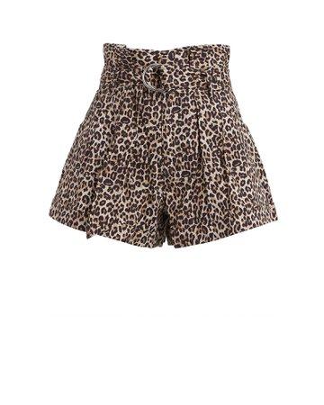 Marissa Webb   Dixon Leopard Paperbag Shorts   INTERMIX®