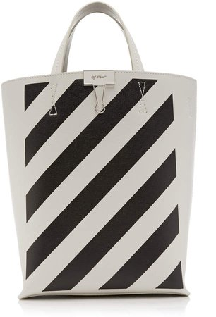 Off White C/O Virgil Abloh Printed Leather Tote