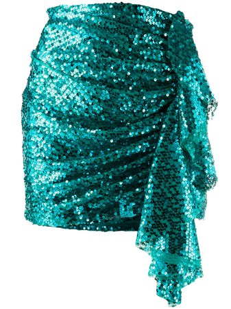 In The Mood For Love Emely Sequin Embellished Skirt EMELYSKIRT Blue   Farfetch