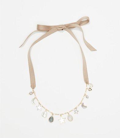Charmed Tie Back Necklace | LOFT