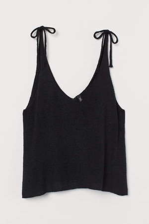 Knit Camisole Top - Black