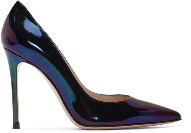 Gianvito Rossi: Multicolor Oil Gianvito 105 Heels   SSENSE