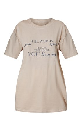 Sand Words You Speak Printed T Shirt | Tops | PrettyLittleThing USA