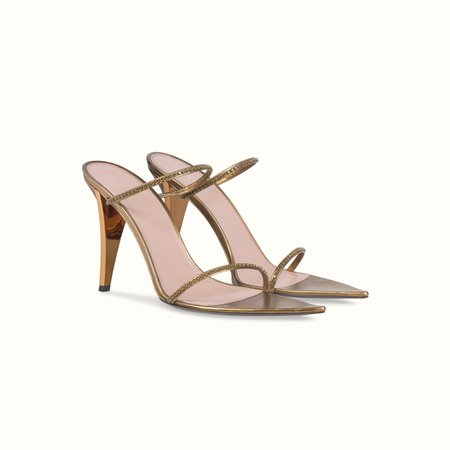FENTY | T HEEL TWO STRAPS SANDALS 105