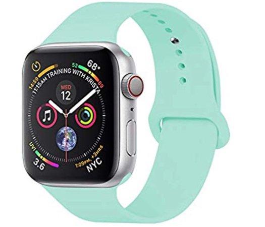 mint green Apple Watch band