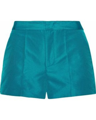 Redvalentino Woman Faille Shorts (Teal)