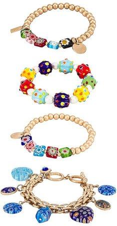 Glass Bead Bracelet Set