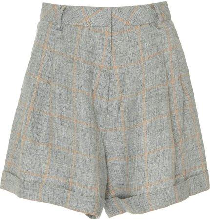 Zeynep Arçay Zeynep Arcay Linen Pleated Shorts