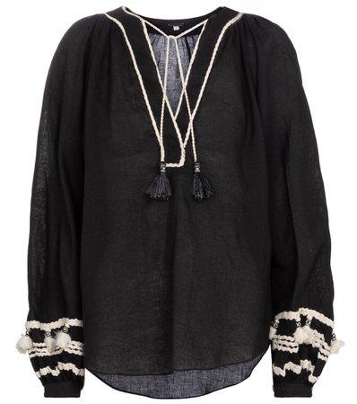 Johanna Ortiz, Cursos Del Rio linen and cotton blouse