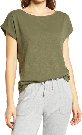Roll Sleeve High/Low Top