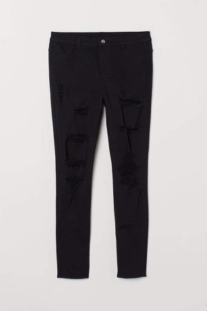 H&M+ Skinny High Waist Jeans - Black