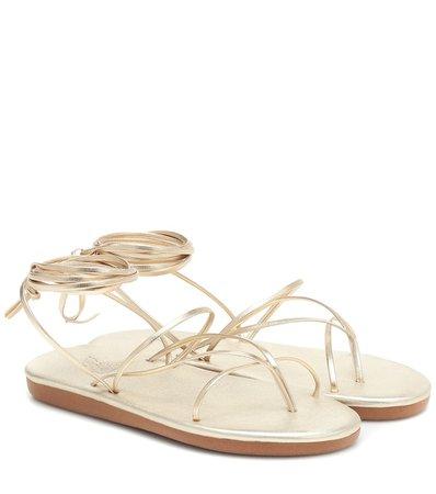 Ancient Greek Sandals - String metallic leather sandals | Mytheresa