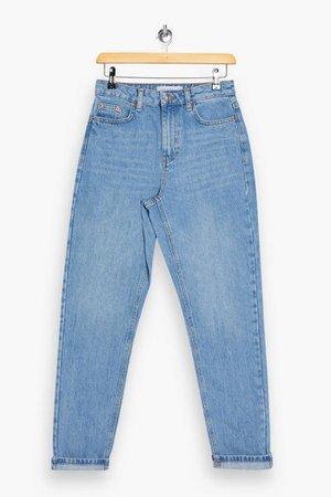 Bleach Badge Pocket Mom Tapered Jeans | Topshop