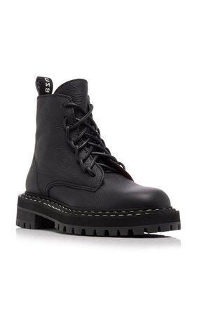 Leather Combat Boots By Proenza Schouler   Moda Operandi