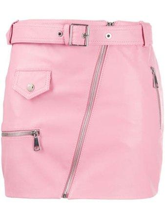 Manokhi fitted biker-style skirt pink AW20MANO89A323BIKER1SKIRTPINK - Farfetch