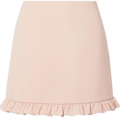 Ruffled Cady Mini Skirt - Blush