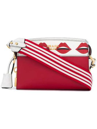 Prada Lips Print Shoulder Bag - Farfetch