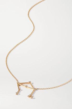 Gold Celestial Libra 10-karat gold diamond necklace | SARAH & SEBASTIAN | NET-A-PORTER
