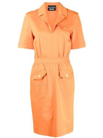 Boutique Moschino multi-pocket Midi Dress - Farfetch