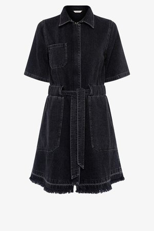 Rosetta Recycled Denim Shirt Dress | New Arrivals | French Connection Usa