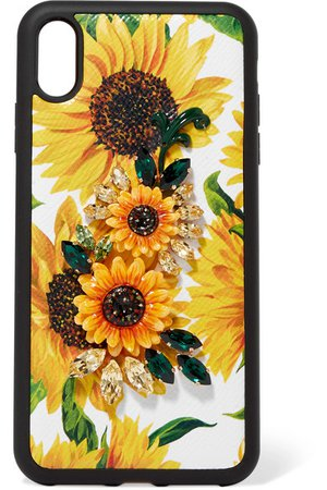Dolce & Gabbana   Embellished floral-print textured-leather iPhone XS Max case   NET-A-PORTER.COM