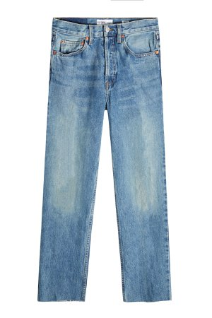 High-Waisted Cropped Jeans Gr. 29