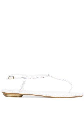 René Caovilla embellished flat sandals - FARFETCH