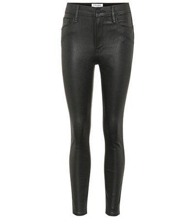 Ali high-rise coated jeans