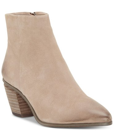 Vince Camuto Women's Grasem Stacked Heel Booties & Reviews - Boots - Shoes - Macy's