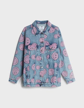 Denim Smiley jacket - New - Woman | Bershka