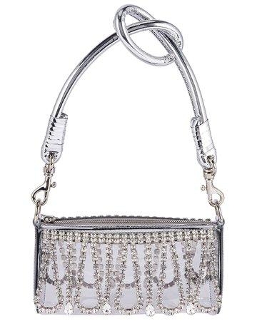 AREA Roll Bag in Silver & Clear   FWRD