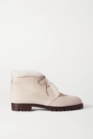 Mircus Shearling-lined Suede Ankle Boots - Beige
