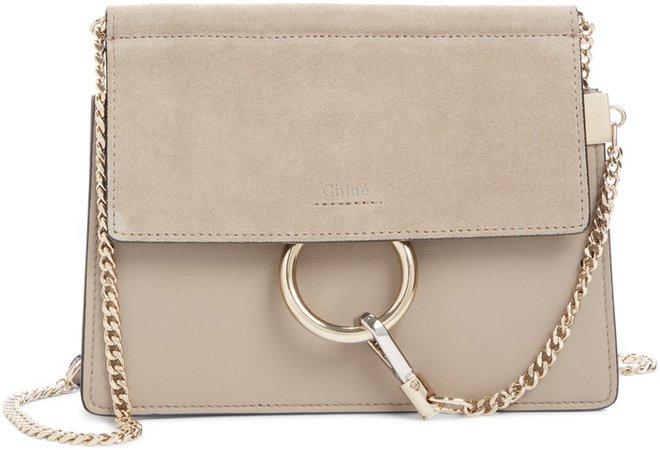 Mini Faye Suede & Leather Crossbody Bag