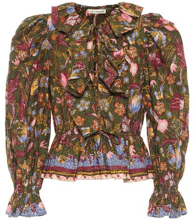 Ulla Johnson - Kalila floral cotton blouse | Mytheresa