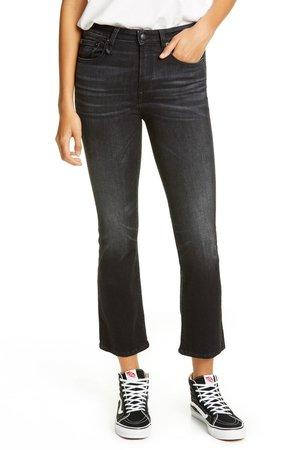 Kick Fit High Waist Crop Jeans