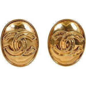 Chanel Oval Oversize Earrings