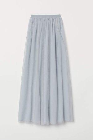 Long Tulle Skirt - Turquoise