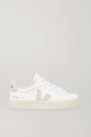 White + NET SUSTAIN Campo leather and vegan suede sneakers   Veja   NET-A-PORTER