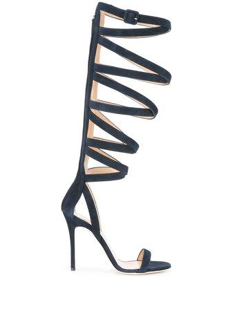 Giuseppe Zanotti strappy stiletto sandals LJE703004 blue | Farfetch