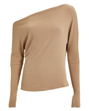 Slouch Ribbed Jersey Top