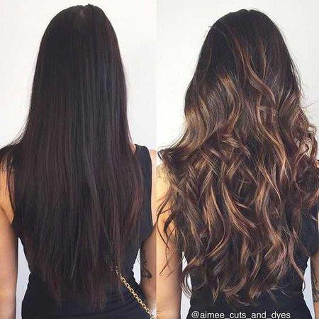 Brown caramel hair