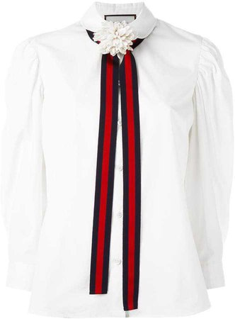 Gucci bow detail shirt
